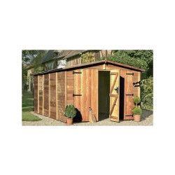 Garage en bois traité albatros