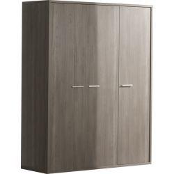Garde-robe bébé à 3 portes design coloris bouleau gris