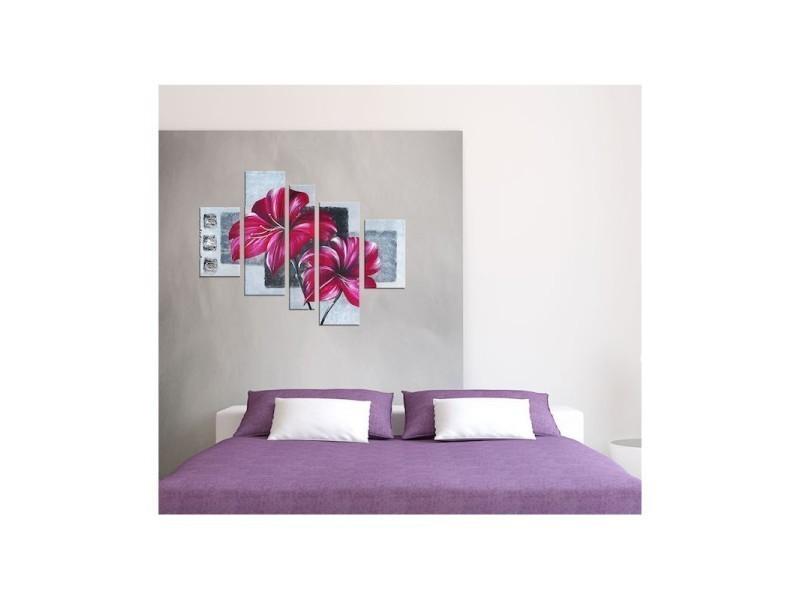 Tableau peinture l'envole florale (140 x 110 cm) - Vente ...