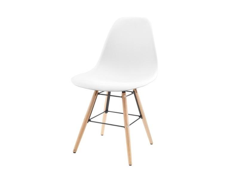 Moderne Schoolv2 Chaise Hêtre Pieds Bois Avec Blanc Et En De Cosy A5jL4R