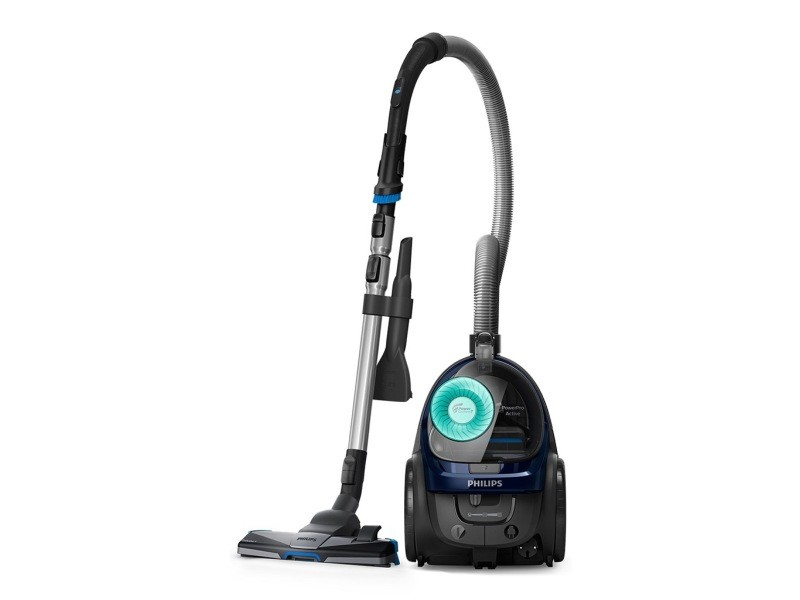 Philips powerpro active aspirateur sans sac bleu louros 750w fc9556/09