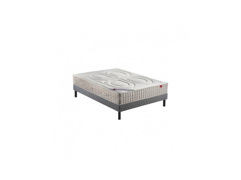 Ensemble epeda bambou 600 ressorts confort ferme 160x200 avec 2 sommiers