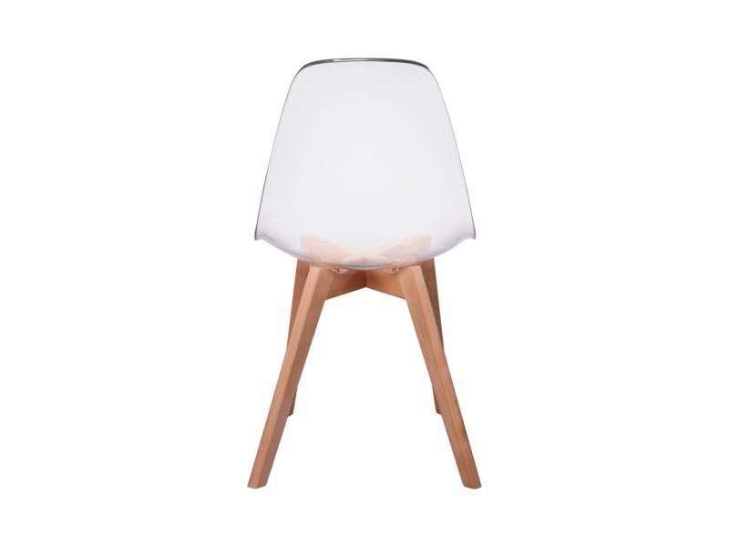 chaise scandinave transparente vente de the concept factory conforama. Black Bedroom Furniture Sets. Home Design Ideas